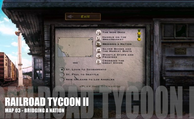 Railroad Tycoon II – Map 03 – Bridging a Nation