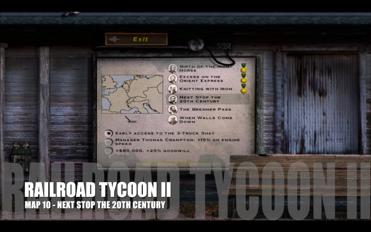 Railroad Tycoon II - Map 10 - Next Stop the 20th Century
