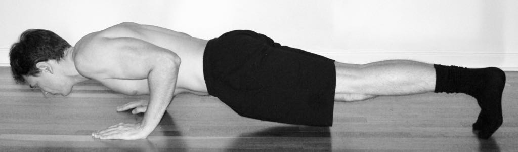 Macrobiotic Health Push Up Exercise