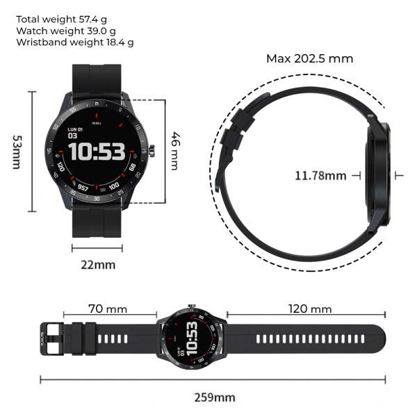 Reloj inteligente T6 Verde-1
