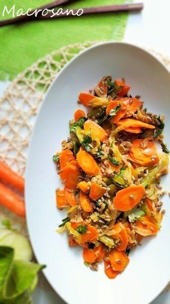Salteado de bok choy y zanahoria al jengibre
