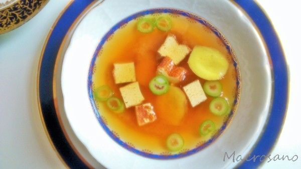 sopa de miso exprés