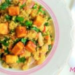 Quinoa con tofu macerado