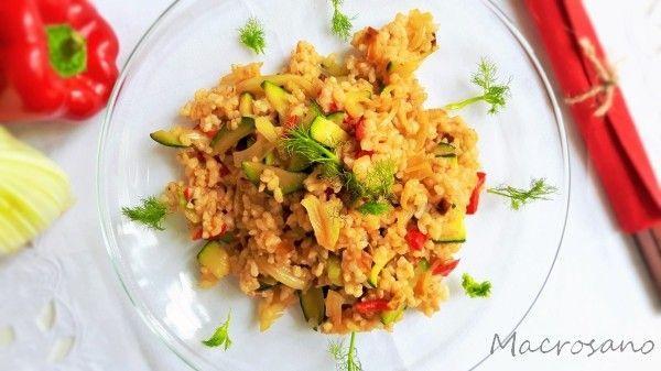 Salteado rápido de arroz con hinojo (1)