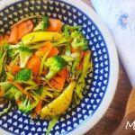 Salteado de verduras al limón
