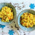 Millet with sauteed vegetables and cumin