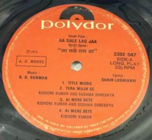 Aa Gale Lag Jaa Hindi Film LP Vinyl Record by R D Burman www.macsendisk.com 2