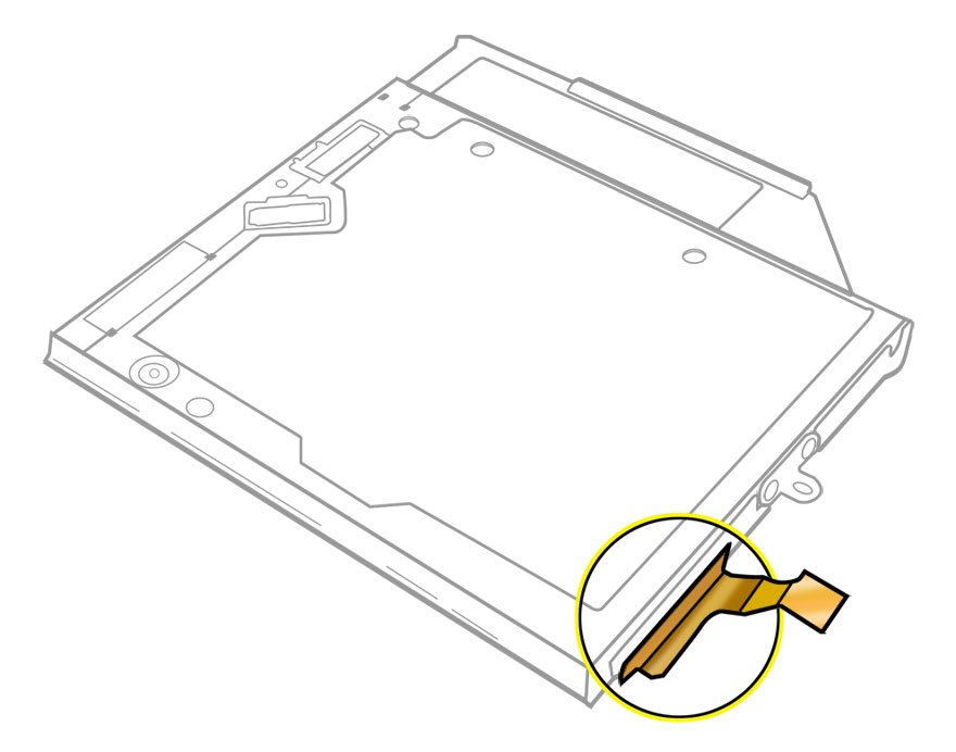 Cable, Optical Drive Flex Macbook Pro 17 inch A1297 Early