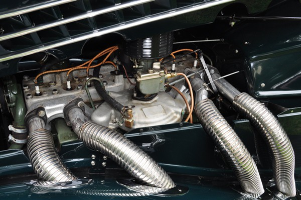 supercharged engine Donald G. Wallace 1936 Auburn 852 Phaeton