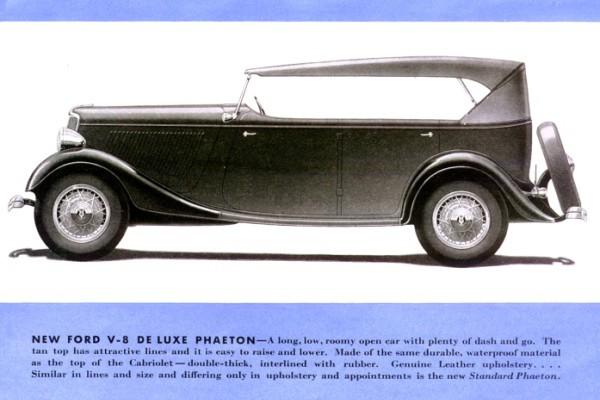 1933 Ford Deluxe Phaeton rendering