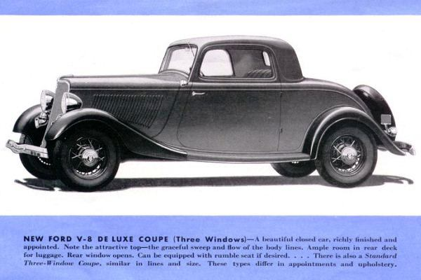 1933 Ford Deluxe Three Window Coupe rendering