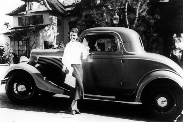 1934 Ford Three Window Coupe with Janet Gaynor