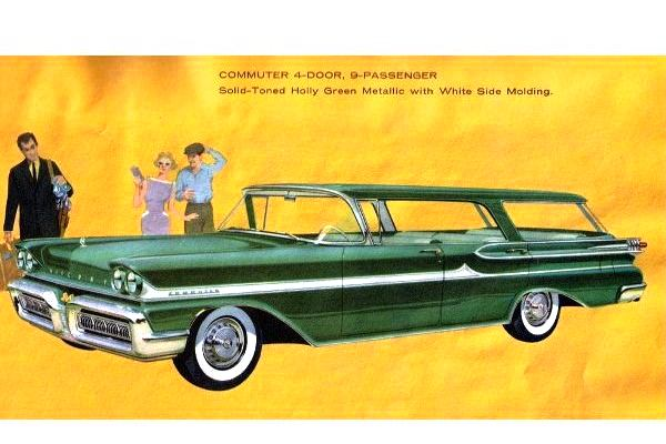 1958 Mercury Commuter four door station wagons