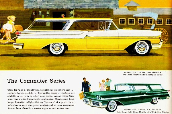 1958 Mercury Commuter station wagons