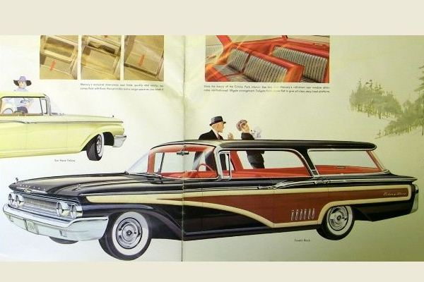 1960 Mercury Colony Park Station Wagon Tuxedo Black