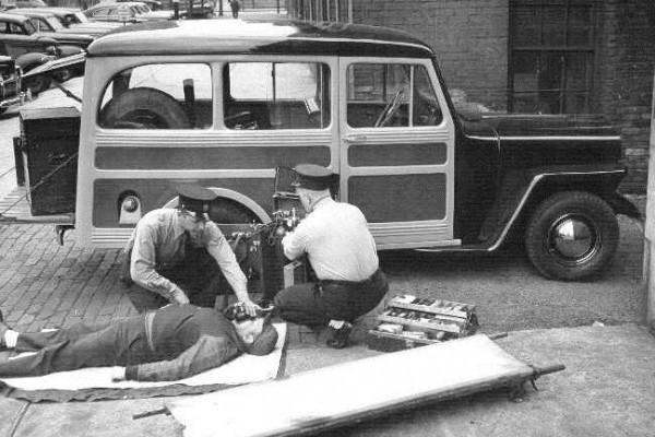 Willys Station Wagon Toledo Fire Department Ambulet