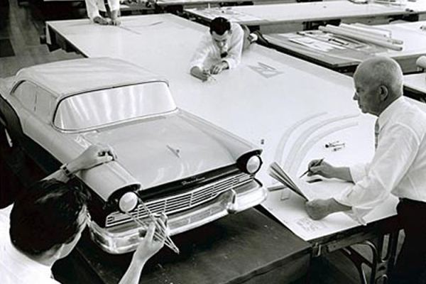 1957 Ford clay scale model