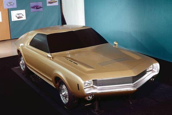 1966 AMC AMX proposal gold