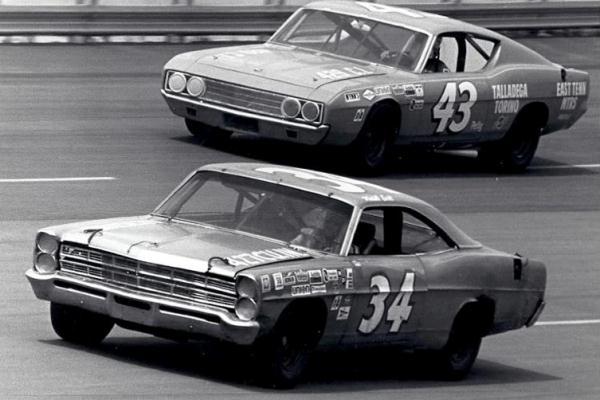 1967 Ford Galaxie Wendell Scott Richard Petty 1969 Torino Talledega