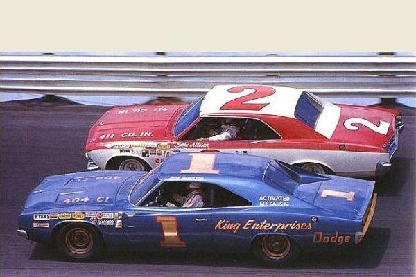 1968 Dodge Charger Pete Hamilton 1966 Chevelle Bobby Allison 2