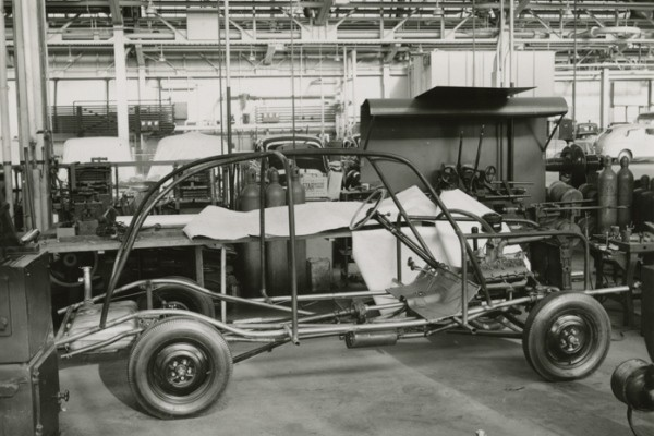 Ford soybean car chassis right side