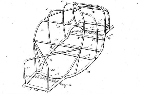 Soybean car frame patent drawing
