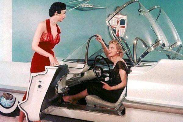 1955 Lincoln Futura cockpit