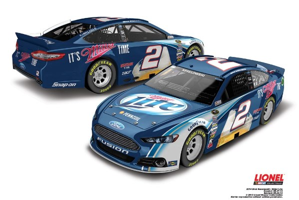 Brad Keselowski 2 Miller Ford