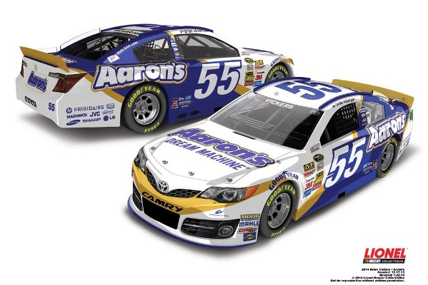 Bryan Vickers 55 Aaron's Toyota