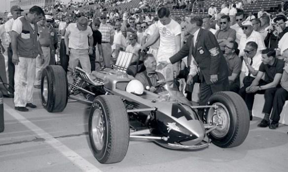 Duane Carter testing capsule car