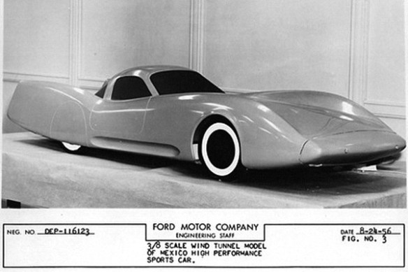 Ford Mexico wind tunnel model 1956