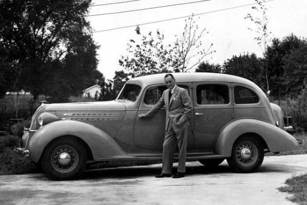 1936 Hudson Eight Touring Sedan with Sir Malcolm Campbell