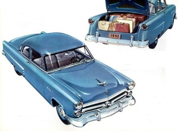 1952 Ford Mainline Business Coupe front and rear art