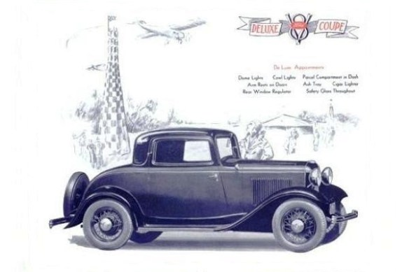 1932 Ford Deluxe Coupe rendering