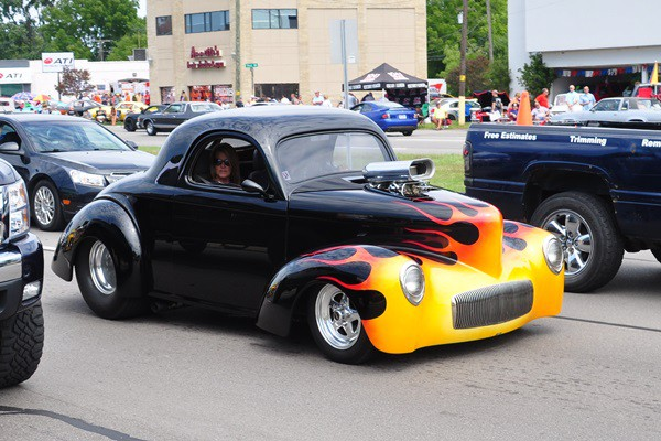 1941 Willys Americar Coupe street gasser