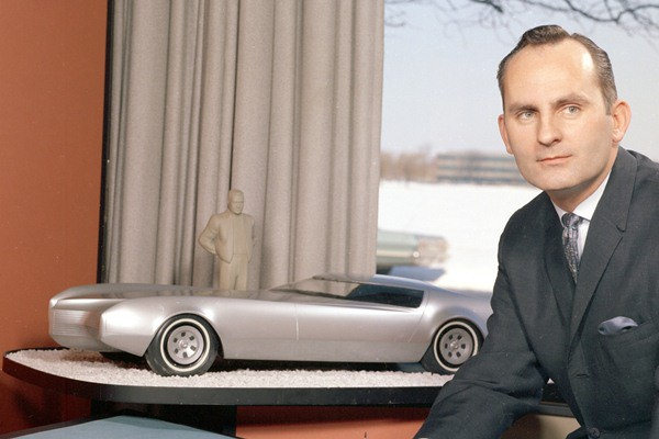 GM Styling Chief Chuck Jordan with Cadillac design proposal