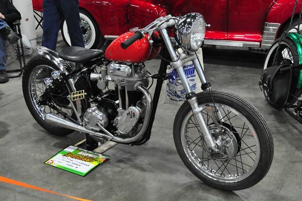 1947 AJS 500cc bobber John Fitzer