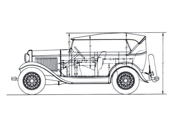 1932 Ford B-35 Phaeton cabin dimensions