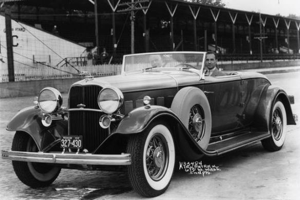 1932 Lincoln with Edsel Ford