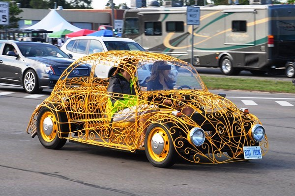 Volkswagen Beetle wrought iron bodywork