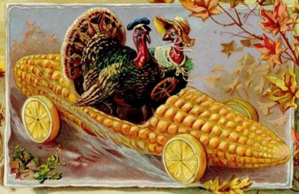 Happy Thanksgiving Corn Car