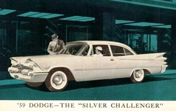 1959 Dodge Silver Challenger Postcard