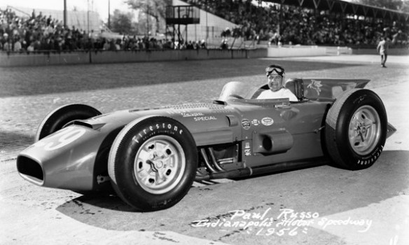 1956 Novi Kurtis Paul Russo race photo