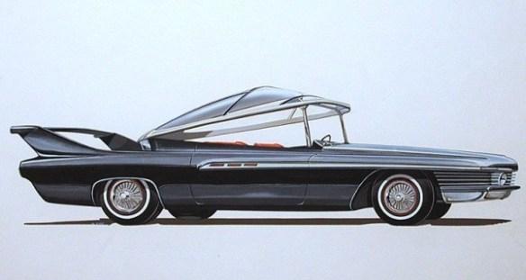1961 Chrysler Ghia Turboflite rendering