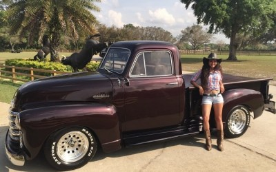 1948 Chevy step side pickup truck