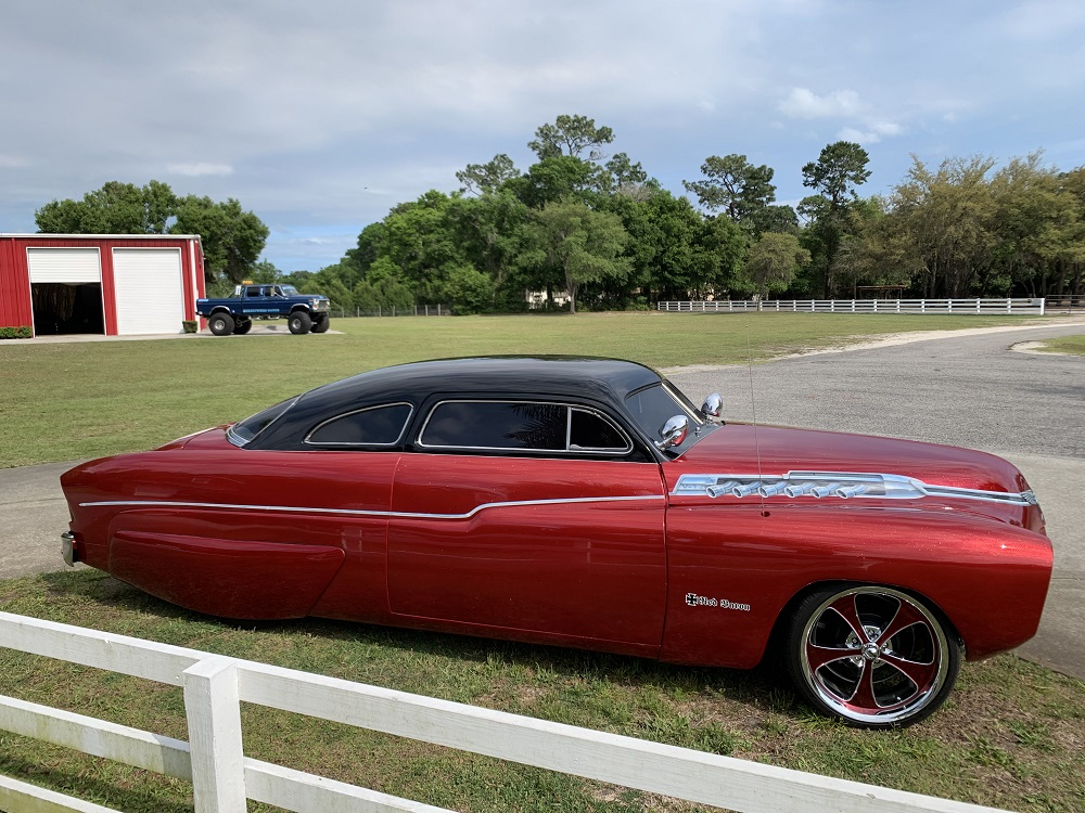 1951 Mercury Chopped Top Led Sled $51,500 00 - Macs Movie Cars