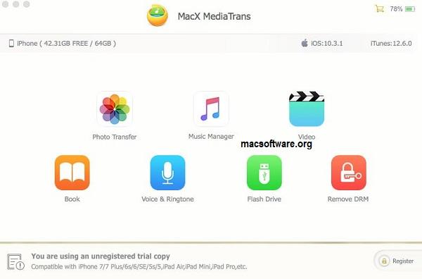 MacX MediaTrans 7.4 Crack With License Key Full Free Download
