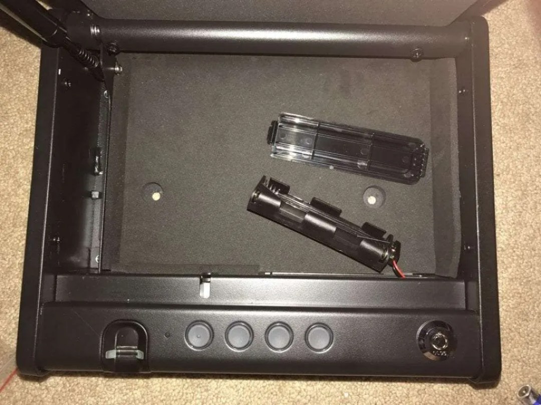Sentry Safe Battery Compartment