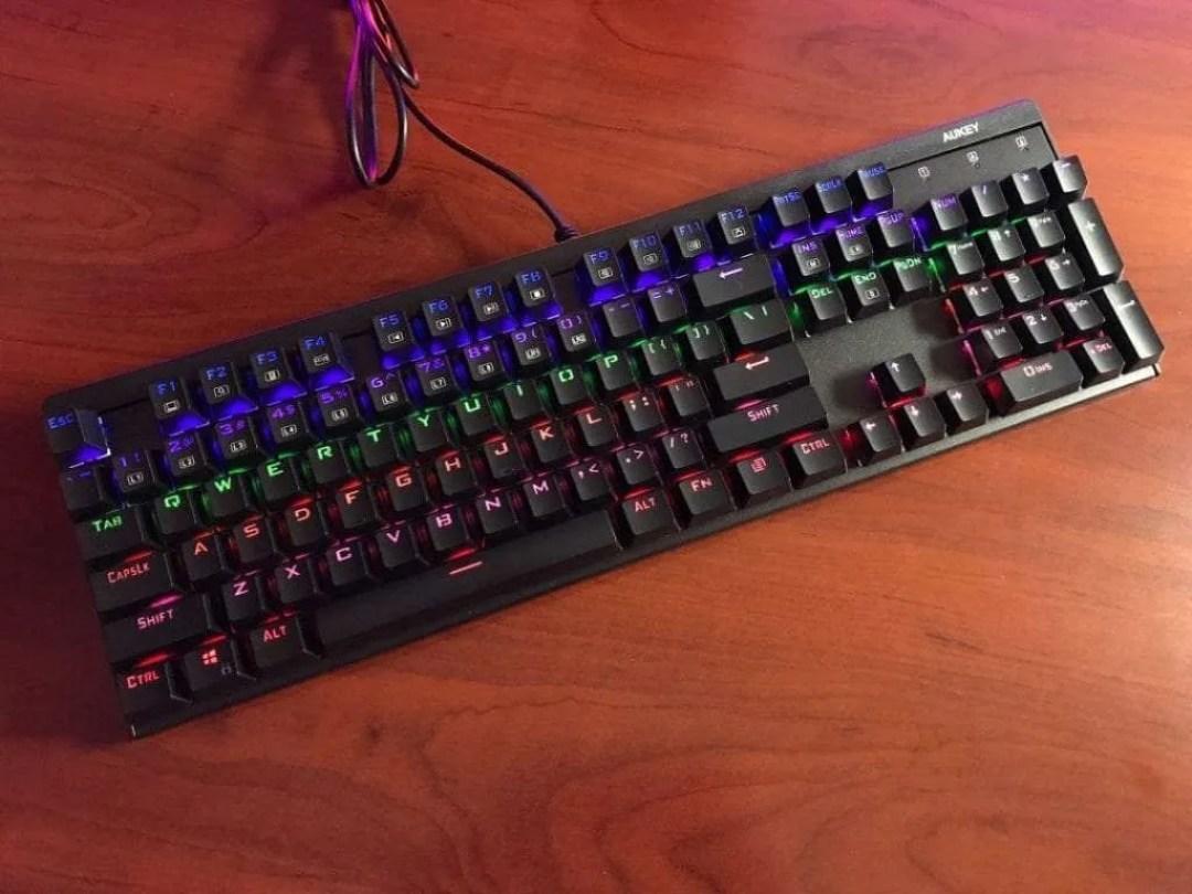 Aukey LED-Backlit Mechanical Keyboard