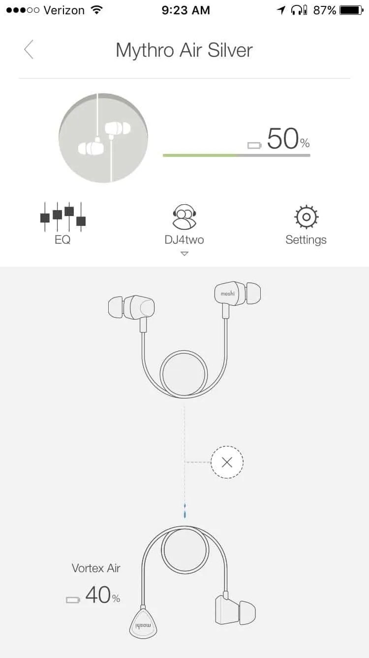 Moshi Mythro Air and Vortex Air Wireless Earphones
